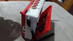 Gravador toca fita relíquia
