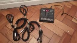 Pedaleira Zoom 505 guitar + 3 cabos P10 comprar usado  Rio de Janeiro