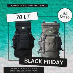 Black Friday - mochila cargueira camping