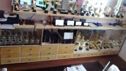 Balcão Cristaleira madeira de imbuia