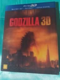 Bluray Godzilla com luva 3D+2D+Cópia digital