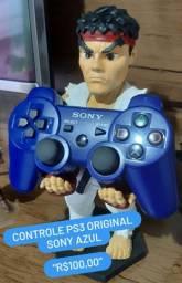 VENDO CONTROLE DE PS3 AZUL ORIGINAL