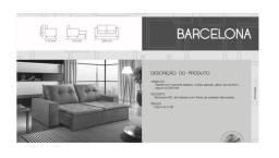 Só HOJE na Black Friday - Sofá Retrátil Barcelona 2,50m Largura - Só R$1.899,00