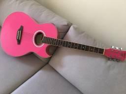 Violão elétrico Phx Rosa