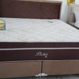 :: Promoçao Cama Box + Colchao Pictor Super King 193x203 Confira