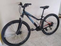 Bicicleta Rava Nina 29 24v X-Time Preto e Azul