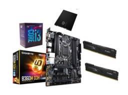 Kit I3 8100 + B360M + 16gb 2400mhz + SSD 240gb