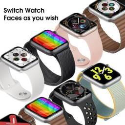 Smartwatch w26+ com botão catraca ultimo lançamento+ 2 Brindes!!