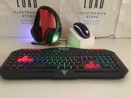 Teclado e Headset Gamer + Mouse(brinde)- Entrega grátis!!