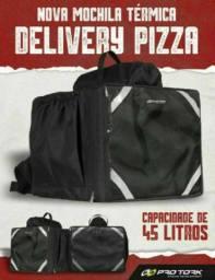 Promoção Mochila Motoboy Térmica Delivery Entregador Pizza Laches PRO TORK 45L