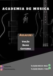 Aulas de guitarra baixo e violão