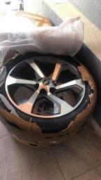 Título do anúncio: Jogo de rodas com 4 pneus semi novos com 3 mil rodados