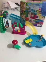 Título do anúncio: 2 conjuntos de brinquedos da Polly Pocket