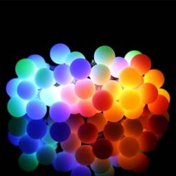Pisca pisca de neon bolinhas coloridas