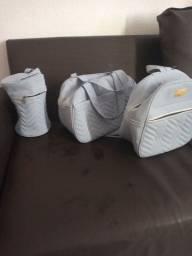 Conjunto de bolsa na cor azul