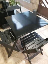 Título do anúncio: VENDO - 03 conjunto de mesas e cadeiras, medida 70/70.