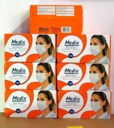 Título do anúncio: Máscara medix tripla cx 50uni C/ Anvisa