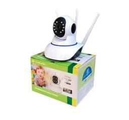 Câmera Robô 3 Antenas IP 350ª Visão Noturna Sensor de Presença Voz