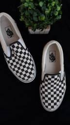 Tênis Vans Original Classic Slip On Black White Checkerboard (Clássico Quadriculado)