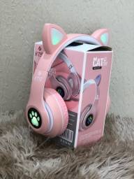 Título do anúncio: Fone Headphone Cat Led Wireless Bluetooth !! FAZEMOS ENTREGAS