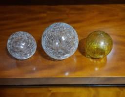 Esferas de vidro craquelado