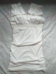 Vestido branco de pérola usado somente 1 vez