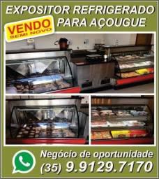 Balcão Vitrine Refrigerada Expositora de Carnes para Açougues