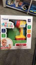 Título do anúncio: Brinquedo Educativo Furadeira Colorida com Luz e Som somente 39 reais