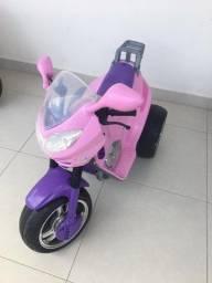 Moto Elétrica Infantil 6V Rosa