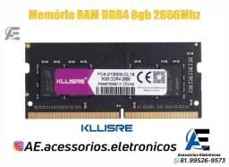 Título do anúncio: Memoria Ram DDR4 4gb e 8gb 2666MHz Kllisre - Notebook - Entregamos e Aceitamos Cartões