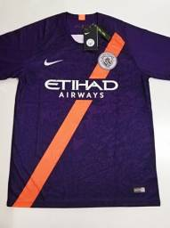 Camisa Manchester City Third Nike 18/19 - Tamanho: G