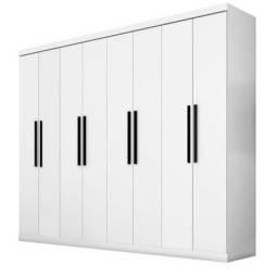 Guarda-roupas 8 portas Araplac branco