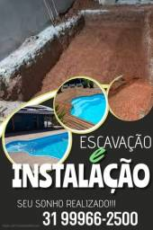 Instalação de piscina
