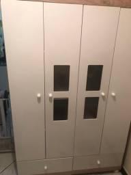 Guarda roupa branco 4 portas + fogão atlas acendedor automático