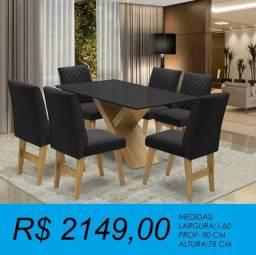 Título do anúncio: Mesa de jantar com 6 cadeiras - a pronta  entrega