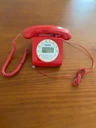 Telefone com fio vermelho - Intelbras