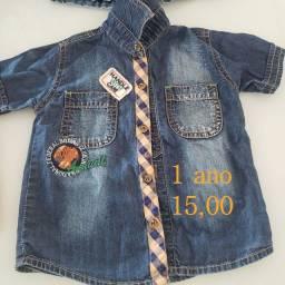 Título do anúncio: Camisa jeans infantil