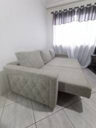 Lindo sofá Retrátil em Linho com detalhes