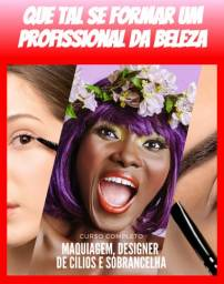 Curso de maquiagem + designer de cílios + sombrancelha