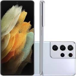 Samsung Galaxy S21 Ultra 256gb 5g Tela 6.8 Prata Preto Nota Fiscal