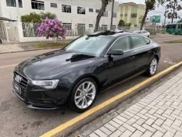 Título do anúncio: Audi A5 Sportback 2016 só 40.000 km com teto preto com bege