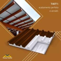 Título do anúncio: Telhas Termoacusticas Trapezoidal T40/T1 Forro Branco