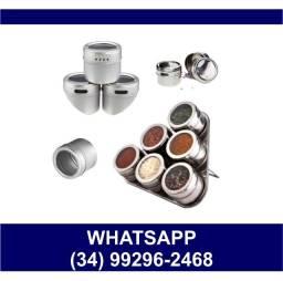 - Kit 6 Porta Condimentos Magnético * Fazemos Entregas