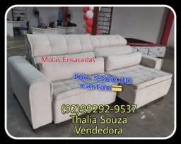 Título do anúncio: ..Sofá Madero de Molas Ensacadas, Espuma D28.. frete grátis Manaus !!@@