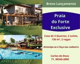 Oportunidade : Praia do Forte Exclusive, 3 quartos, 02 suítes, 136 m², 2 vagas, Lançamento