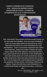 Título do anúncio: Vaga de curso para atendimento de farmácia e vendas
