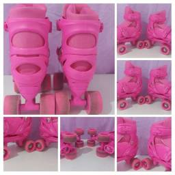 Vendo patins ajustável.Menina.31 a 34