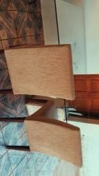 Vende-se mesa de vidro com pé de mármore com 6 cadeiras