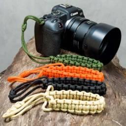Alça de Pulso em paracord para Câmera Fotográfica, Lanterna, Guarda-chuva, Binóculos
