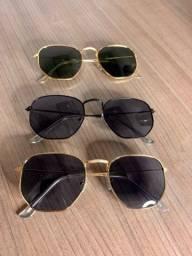 Óculos Armação Hexagonal